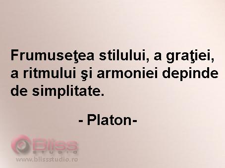 citate despre simplitate Frumuseţea stilului, a graţiei, a ritmului şi armoniei depinde de  citate despre simplitate